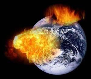 Terra explodindo