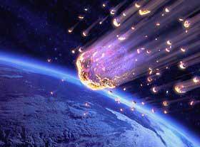 meteoro caindo na terra