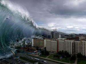 tsunami e terremoto em cidades costeiras