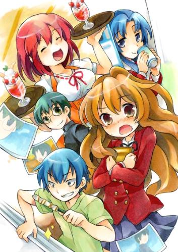 Aisaka Taiga, Kushieda Minori, Ryuuji Takasu, Kitamura e Kawashima Ami - Toradora