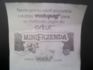 Nostalgia: orkut, minifazenda e vostu.