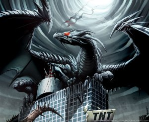 Um dragão.