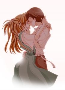 Não faço ideia de qual seja o anime, mas é imagem de beijo - tá valendo.
