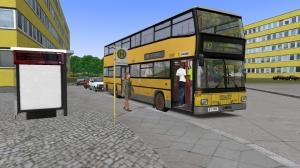 Os ônibus padrões do jogo são de dois andares.