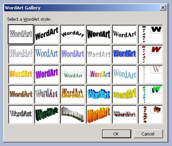 Word Art 2003