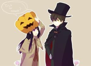 Chitanda Eru e... Até tu, Houtarou?! no clima do Halloween, Dia das Bruxas, Dia do Saci ou o que você quiser.