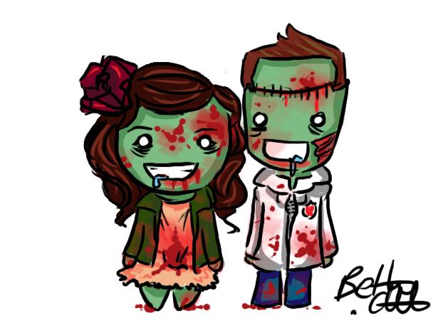 Lindo casal. (desenho por bethwhowishes)