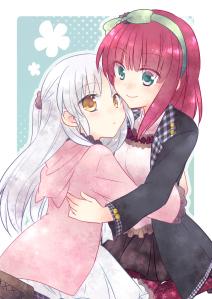 Garotas tem mais facilidade para novas amizades (e, por sinal, a garota de cabelo vermelho se chama Yuri).