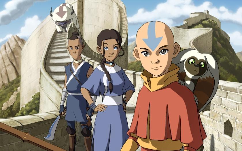 Avatar - O Último Mestre do Ar. Imagem nada a ver de hoje. Só coloquei porque a animação foi feita em estúdios sul-coreanos.