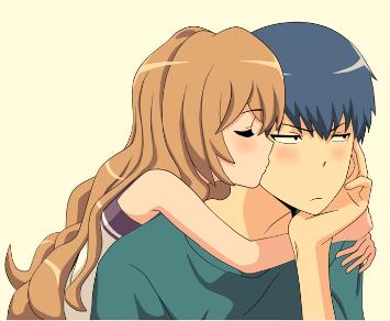 Não posso publicar uma postagem de beijo e de casais sem Taiga e Ryuuji. Seria como um programa sem método/função principal.