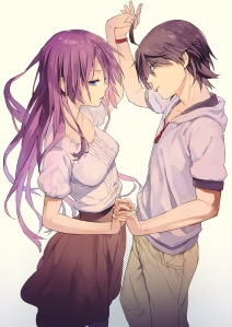 Casal de namorados da série Monogatari (pois o ClaMAN gosta mais de 2D)