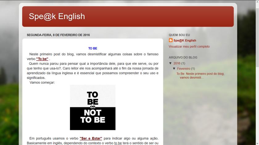 Blog Speak English