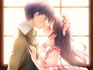 Não encontrei informações sobre artista ou nome do anime/visual novel, mas é uma imagem interessante.