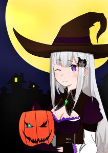 Emilia de Re:Zero Kara Hajimeru Isekai Seikatsu (escrevi certo?)