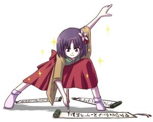 Imagem ilustrativa. O ClaMAN não é a Hieda no Akyuu (personagem de Touhou) e nem escreve de modo tão elegante (e bizarro).